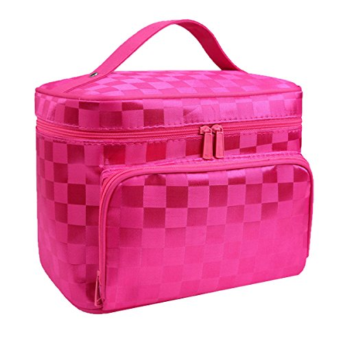 Große Größe Kosmetik Taschen Mit Qualität Reißverschluss Einzigen Schicht Reise Make-up Taschen Pink2