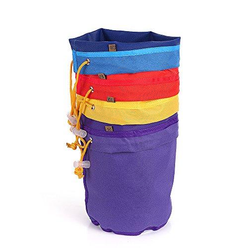 Bubble Bag ,Extraktionsbeutel-Set,4 stücke 1 Gallone Filterbeutel Blase Tasche Kräutereis Essenz Extractor Kit Set von Micron Tasche Kordelzug Extraktionstaschen mit Drücken Bildschirm und Tragetasche -