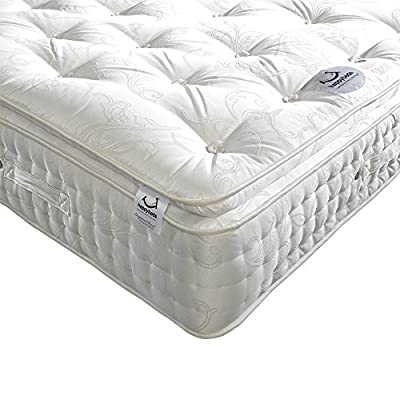 Happy Beds Signature 2000 Pocket Sprung Organic Orthopaedic Mattress - cheap UK light shop.