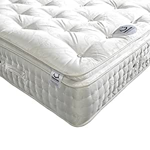 Happy Beds Signature 2000 Pillow Top Pocket Sprung Organic Mattress - Super King