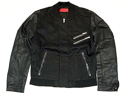 Hugo Denim Biker noir Veste Hugo 055couleur 002 Noir m