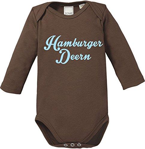 EZYshirt® Hamburger Deern Baby Body Longsleeve