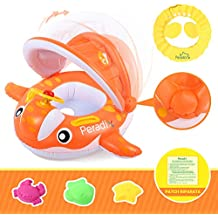 Peradix Flotador para Bebé con Asiento, Respaldo, Techo del Sol, Barca Bebé de
