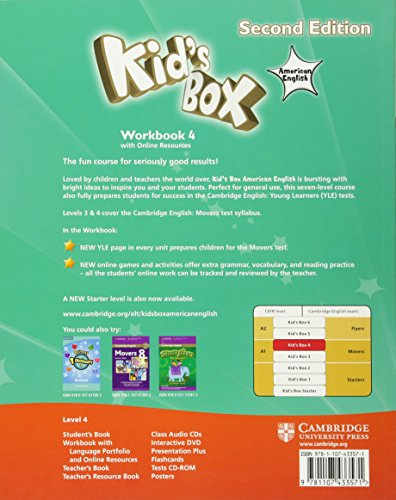 Kid's Box American English Level 4 Workbook with Online Resources 2nd Edition - 9781107433571