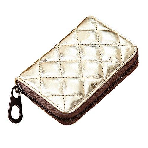 GSPStyle monete da donna in cuoio, Borsa Business a portafogli con porta carte di credito, Oro (Oro) - 006972 Oro