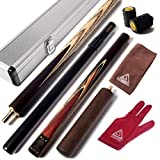 "CUESOUL 57"" Handcraft 3/4 Jointed Snooker Cue with 2 Cue Extension Packed in"
