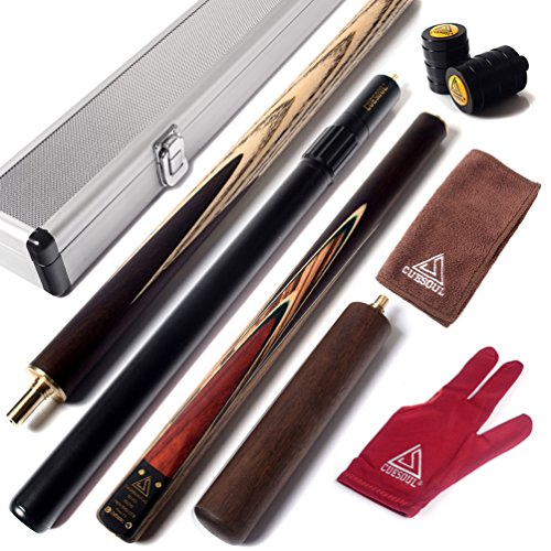 cuesoul-57-handcraft-3-4-jointed-snooker-cue-with-2-cue-extension-packed-in-aluminium-cue-case-d308