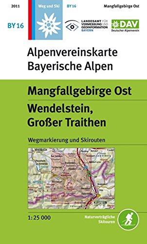 Mangfallgebirge Ost, Wendelstein, Großer Traithen: Wegmarkierung und Skirouten - Topographische Karte 1:25.000 (Alpenvereinskarten)