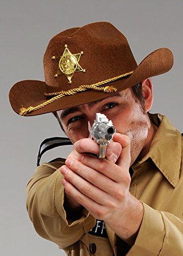 Erwachsener stellvertretender Sheriff-Brown-Cowboyhut (Rick Grimes Kostüm Walking Dead)