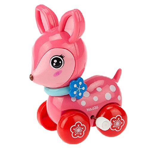 2 PC nette Tiere Aufziehspielzeug für Kinder, Sika Hirsche (Farb Random)