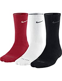 Nike Crew Socks 3PPK Dri Varios colores multicolor, rojo, blanco y gris, XL