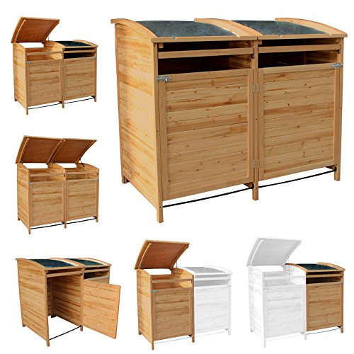 MTB Mülltonnenbox Holzverkleidung mit Deckel Türe 240 L. Gartenbox erweiterbar (Erweiterung) - 2