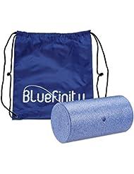 Bluefinity Massagerolle glatt, Selbstmassagerolle wahlweise 30 cm, 45 cm oder 60 cm Länge, 15 cm Durchmesser, für Faszientraining, gegen Verspannungen, Faszienrolle zur Selbstmassage, blau