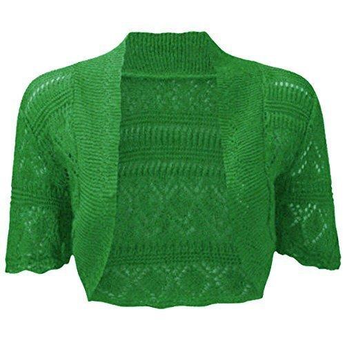 fashionchic femmes BOLERO étole femmes grande taille crochet cardigan tricot grande taille étole Haut 8-30 Vert Jade