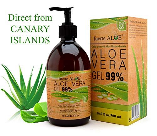 Fuerte ALOE Aloe Vera Gel 100% Organico puro 500 ml