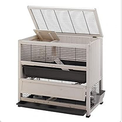 Elegant Indoor Wooden Hutch With Two Levels - Suitable For Small Rabbit Breeds And Guineapigs, With A Chic Design And… 2
