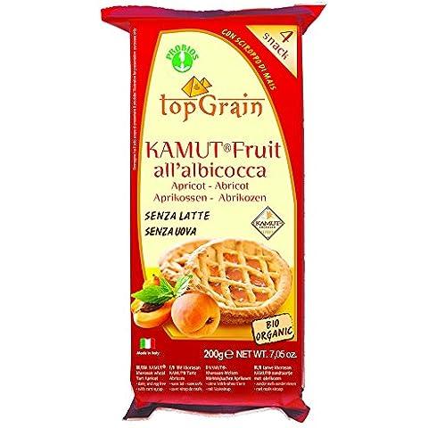4x50g grano superior Kamut Orgánica albaricoque Frutas