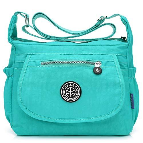 Nuova borsa da donna in versione coreana diagonale cross-pack di grande capacità impermeabile tracolla in nylon v