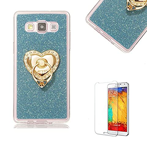 Pour Samsung Galaxy J200 2015 Ultra Mince étui en silicone, étui de protection pour Samsung Galaxy J200 2015 Bling Glitter, funyye Luxe [Argenté] Sparkles brillant paillettes Coque CRYSTAL Transparent Soft arrière de protection en silicone Shinning Back Cover étui pour Samsung Galaxy sans J200 2015 + 1 x Film de protection d'écran anti-rayures Ring Holder
