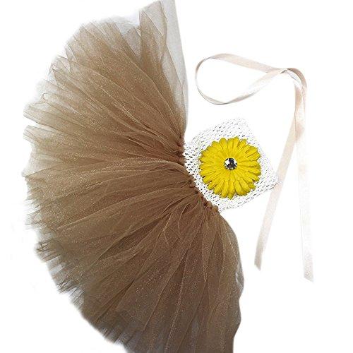 Honeystore Mädchen Spitze Prinzessin Rock Sommer Blumen Kleider für Baby Kleinkinder Kinder 0-2 Jahre alt Medium Champagner mit (Halloween Kostüme Amazon Schwangerschaft)
