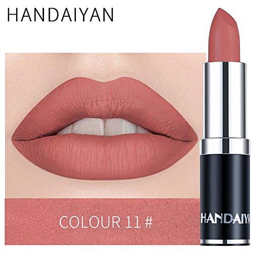12 Couleurs Rouge à LèVres,Matte Lipstick Waterproof 24 Hydratant Lip Gloss Lipstick Pencil Lipstick Korean