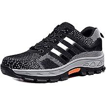 newest 81f20 51fac CHNHIRA Chaussures de Travail Homme Embout Acier Protection Antidérapante  Anti-Perforation Chaussures de Sécurité Unisexes