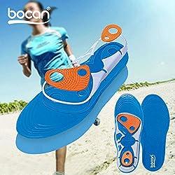 Tezam Plantillas de gel con absorción de impactos y amortiguación para correr, caminar o senderismo (L: EUR40-45)