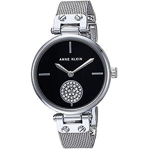Anne Klein Reloj de Cuarzo para Mujer, de Metal y Acero Inoxidable, Color
