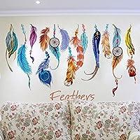 Amlaiworld Clásico Creativo Atrapasueños Pegatinas de pared de plumas  Calcomanía de arte Mural Decoración del hogar pegatinas decorativas pared decoración dormitorio habitación