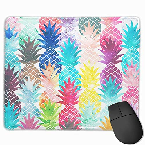 Hawaiian Pineapple Pattern Tropical Watercolor Customized Rectangle Non-Slip Rubber Mousepad Gaming Laptop Mouse Pad Mousepad Anti-Slip Mouse Pad Mat Mice Mousepad Desktop Mouse Pad 9.8 Inch X11.8Inch Express-bluetooth-notebooks