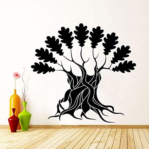 woyaofal Vinyl Wall Decal großer Baum mit Zweigen & Blätter - Natur Art Decor abnehmbare Aufkleber Home Apartment oder Büro Deco 105x99cm