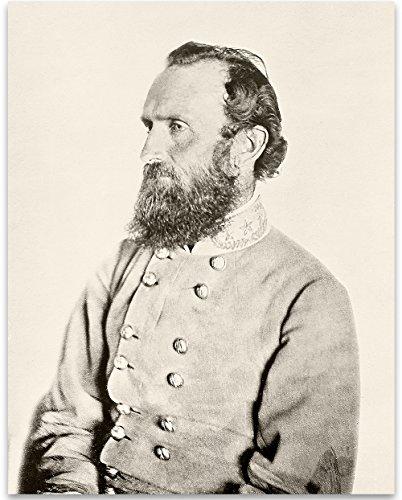 Lone Star Art Südstaaten General Stonewall Jackson-11x 14Kunstdruck gerahmt-Tolles Home Decor - General Stonewall