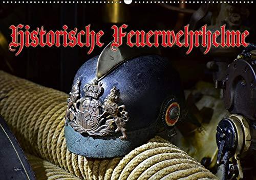 Historische Feuerwehrhelme (Wandkalender 2020 DIN A2 quer): Alte Kopfbedeckungen unserer Retter und Helfer (Monatskalender, 14 Seiten ) (CALVENDO Mobilitaet)