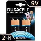 Duracell Batterie Alcaline Ultra Power 9 V, Confezione da 2, il Design della Confezione Potrebbe Cambiare