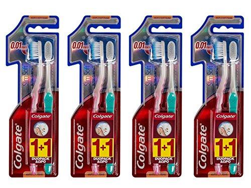 Colgate Slimsoft Ultra Compacte 21g Zahnbürsten, 4Stück