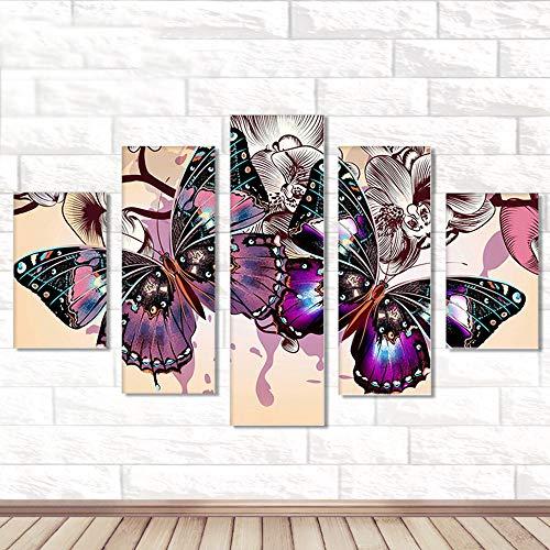 Riou DIY 5D Diamant Painting Voll,Stickerei Malerei Crystal Strass Stickerei Bilder Kunst Handwerk für Home Wand Decor Gemälde Kreuzstich Festlich Weihnachten 5PCS (Mehrfarbig F, 5PCS)