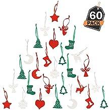 Kompanion Decoración Colgante Navideña – Ornamentos para Árbol de Navidad – Accesorios Decorativos Festivos – Articulo
