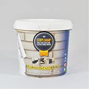 Technoseal Professional Damp Proof Waterproofing Paint 5L White For Walls & Floors