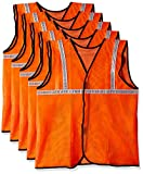 #7: Safari Pro 1' Inch Reflective Safety Jacket, Orange, Mesh Type, Set of 5