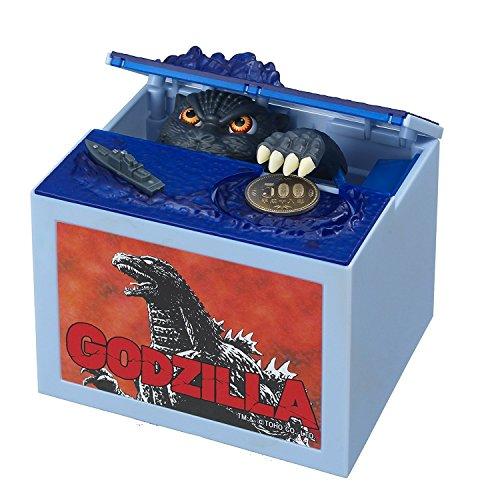 Preciosa hucha con cachorro que se come las monedas, Godzilla