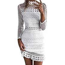 Overdose Womens Sexy Lace Bodycon Cocktail Ladies Party Pencil Midi Dress Imperio Cuello Alto & Club