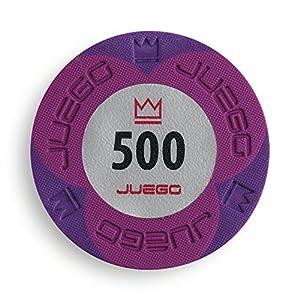 Juego - Fichas de Poker 500 Pro Embossed, 10 gr, Color Viola (ITA Toys JU00135)
