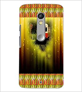 PrintDhaba Train D-4606 Back Case Cover for MOTOROLA MOTO X PLAY (Multi-Coloured)