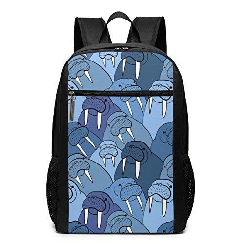 TRFashion Rucksack Walrus Laptop Computer Backpack 17 Inch Fashion Casual Travel Daypack Laptop Bag Schoolbag Book Bag for Men Women Black - Spade Kate Notebook-tasche