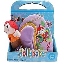 Yinew Schmetterling Stoffbuch Babybuch,Früh Lernen Lernspielzeug Baumwolle weichen Tuch Buch