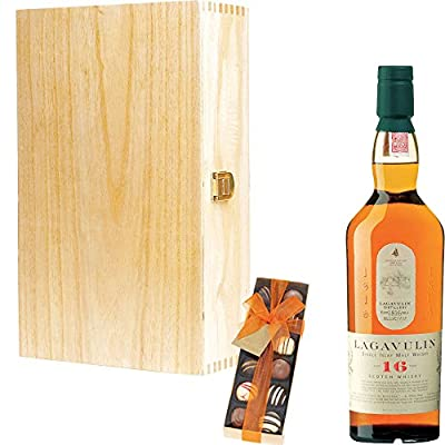 Lagavulin 16 Year Old Single Malt Scotch Whisky Corporate Gift Set With Handcrafted Gifts2Drink Tag