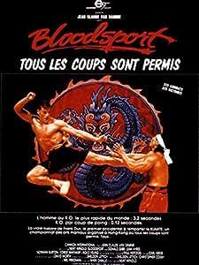 Affiche Cinéma Originale Grand Format - Bloodsport (format 120 x 160 cm roulée)