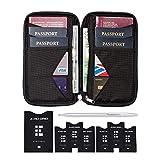 Portefeuille de Voyage et Porte-Passeport Familial avec Blindage RFID - Étui Organisateur de Documents