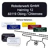 Roboterwerk Drohnen-Kennzeichen - eloxiertes Aluminium - hochwertige Laserbeschriftung, inkl. Klebestreifen (Plakette ALS Kennzeichnung für Quadrocopter und Modellflug)