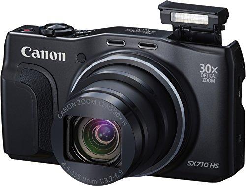 Canon PowerShot SX710 HS Digitalkamera (20,3 Megapixel CMOS, 30-fach opt. Zoom, 60-fach ZoomPlus, 7,5 cm (3 Zoll) Display, opt. Bildstabilisator, Full HD Movie 60p, WLAN, NFC) schwarz